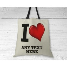 Personalised Tote Bag - I love my city with heart