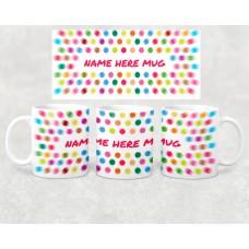 Name Mug - blurry dot