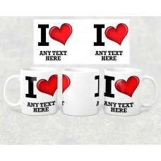 Name Mug - I love name with heart