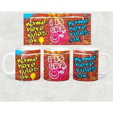 Name Mug - graffiti wall