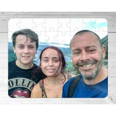Personalised Wooden Jigsaw Puzzle - A4 60 piece photo