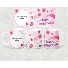 Photo Mug - happy Mother's day oval picture