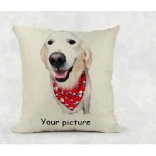 Personalised Cushion - photo on linen