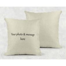 Personalised Cushion - custom design on linen